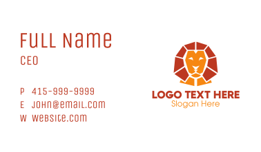 Lion Sphinx Business Card