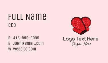 Oven Glove Heart Business Card