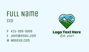 Mountain Hike Lover  Business Card