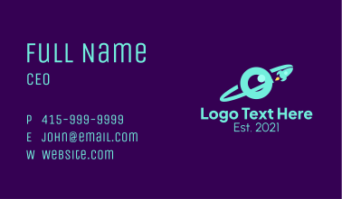 Planet Orbit Eye  Business Card