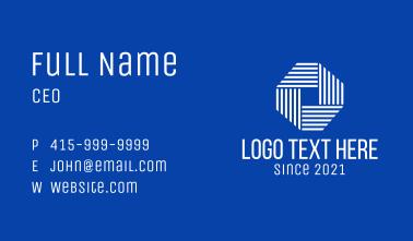 Modern Corporate Octagon Business Card