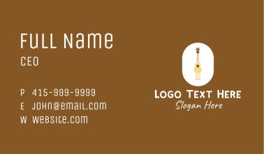 Acoustic Giraffe Guitar Business Card