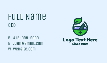 Traditional Medicine Tools Business Card