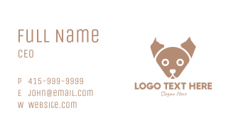Brown Puppy Business Card