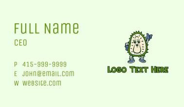 Durian Fruit Mascot Business Card