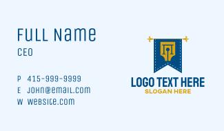Writer Pen Flag Business Card