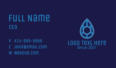 Geometric Liquid Drop  Business Card
