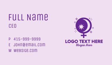 Magic Bowl Women Symbol Business Card