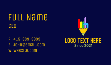 Colorful Pencil Hand Business Card