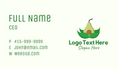 Organic Avocado Drink  Business Card