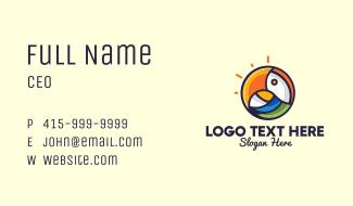 Parrot Bird Circle Business Card