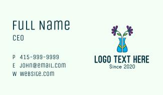 Ornamental Flower Vase Business Card