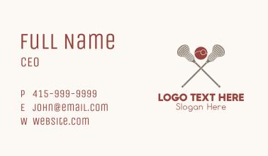 Lacrosse Sports Team  Business Card