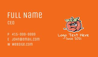Tomato Mascot Business Card