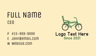 City Bike Outline Business Card