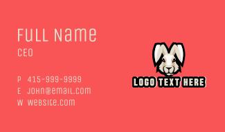 Wild Hare Rabbit Mascot Business Card