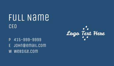 Cursive Rain Wordmark Business Card