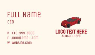 Red Racing Car Business Card