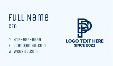 Letter PD Monogram Business Card