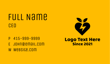 Leafy Heart Lightning Business Card