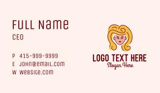 Big Hair Lady Salon Business Card