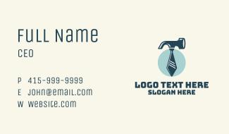 Hammer Necktie Maintenance Business Card