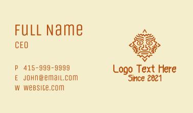Mayan Sun Mask Business Card