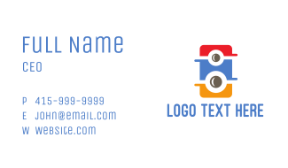 Colorful Speaker Business Card