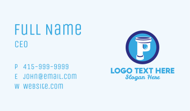 Plumbing Pipe Letter P Business Card