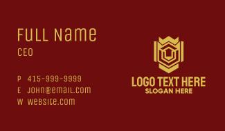 Gold Housing Emblem Business Card