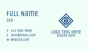 Creative Blue Diamond Business Card