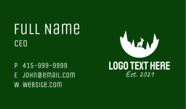 Mountain Goat Forest Business Card