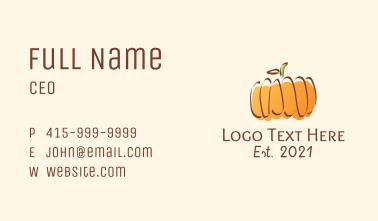 Autumn Pumpkin Farm  Business Card