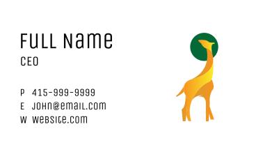 Yellow Giraffe Business Card