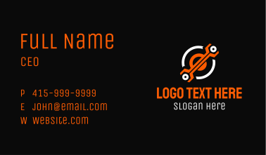 Tech Wrench Tool  Business Card