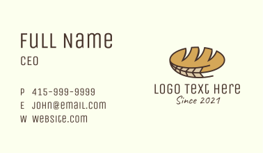 Bread Wheat Bakery Business Card