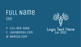 White Staff Of Hermes  Business Card