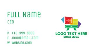 Colorful Dresser Furniture  Business Card