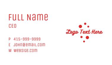 Red Playful Cursive Wordmark Business Card