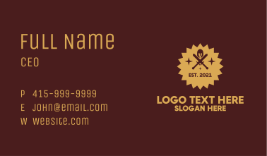 Armor Gaming Badge Business Card
