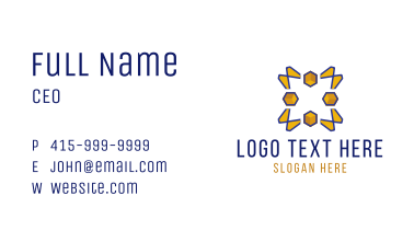 Modern Yellow Star Business Card
