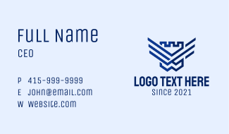 Fort Shield Wings Business Card