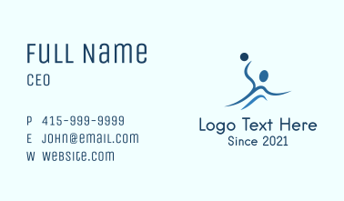 Water Polo Athlete Business Card