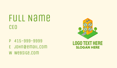 Isometric Condo Building  Business Card