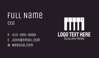 Piano Music Keyboard Business Card