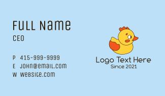 Cartoon Rubber Ducky Business Card