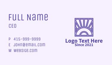 Sunset Textile Design  Business Card