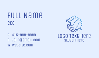 Blue Whale Sunset  Business Card