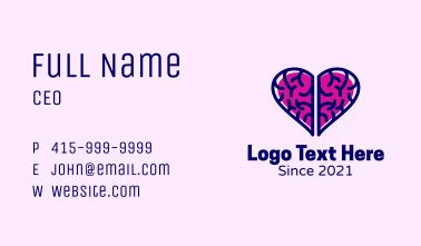 Heart Brain Doodle  Business Card