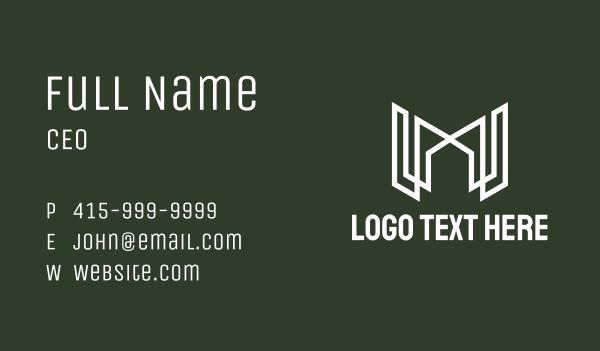 m - White Letter M Real Estate Business card horizontal design